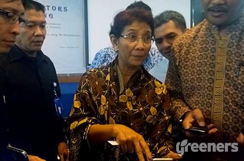 Susi Pudjiastuti Pada Acara Chief Editors Meeting  Foto: greeners.co/Danny Kosasih