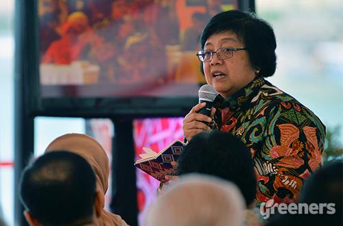 Menteri Lingkungan Hidup dan Kehutanan Siti Nurbaya. Foto: greeners.co/Danny Kosasih