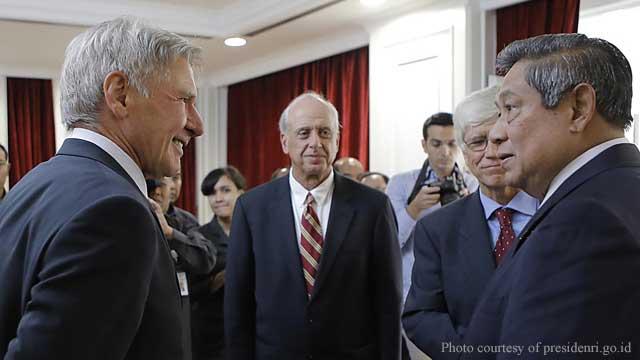 Harrison Ford Wawancarai Presiden SBY soal Perubahan Iklim
