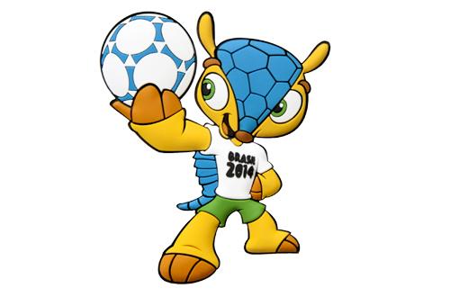 Fuleco, maskot resmi Piala Dunia 2014.