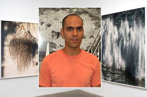 """Amir Zaki diantara pameran foto karyanya bertajuk """"Seeking Clarity"""". Foto: www.acmelosangeles.com"""