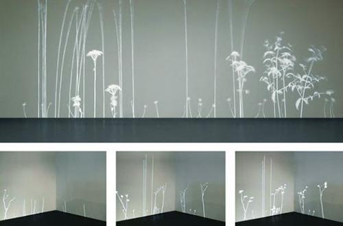 """Lightweeds"" karya Simon Heijdens. Foto: www.simonheijdens.com"