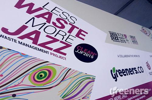 Less Waste More Jazz di Java Jazz Festival 2015. Acara yang menampilkan puluhan musisi  jazz ini berlangsung selama tiga hari, tanggal 06-08 Maret 2015. Foto: greeners.co/Rifky Fadzri