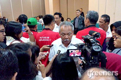 Menteri Pekerjaan Umum dan Perumahan Rakyat, Basuki Hadimoeljono. Foto: greeners.co/Danny Kosasih