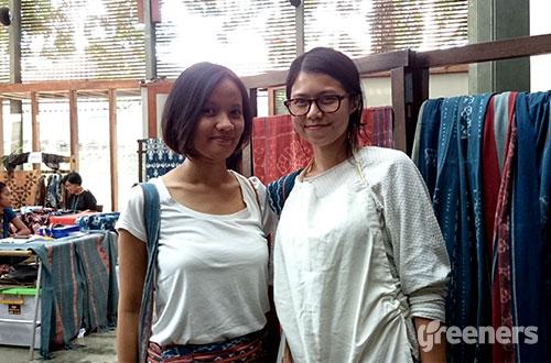 (kiri-kanan) Annisa Hendrato dan Cendy Mirnaz, pendiri Noesa. Foto: greeners.co/Renty Hutahaean