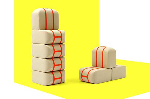"Sofa modular ""The Self-made Seat"" karya Matali Crasset. Foto: www.inhabitat.com"