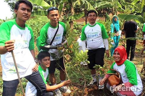 Aksi penghijauan Kojo Bandung. Foto: dok. Kojo Bandung