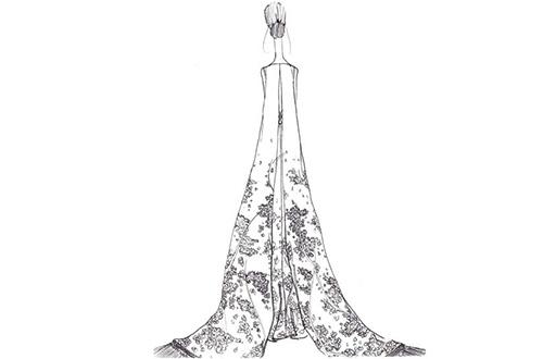 Desain gaun yang dikenakan Livia Firth hasil rancangan Antonio Berardi. Foto: www.ecouterre.com