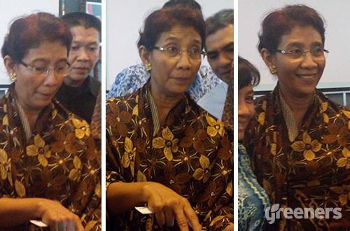 Menteri Kelautan dan Perikanan, Susi Pudjiastuti. Foto: greeners.co/Danny Kosasih