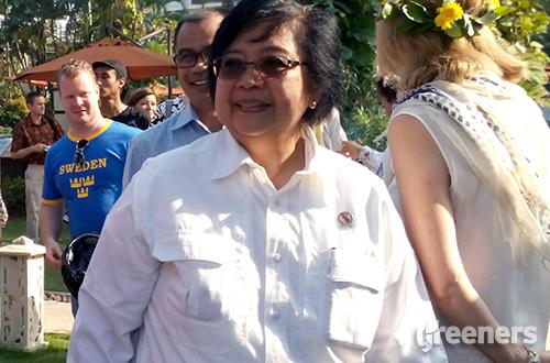 Menteri Lingkungan Hidup dan Kehutanan, Siti Nurbaya Bakar. Foto: greeners.co/Danny Kosasih