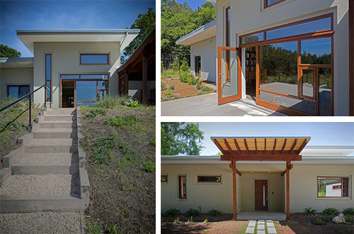 Rumah pasif Happy Meadows Courtyard rancangan Arielle Condoret Schechter. Foto: inhabitat.com