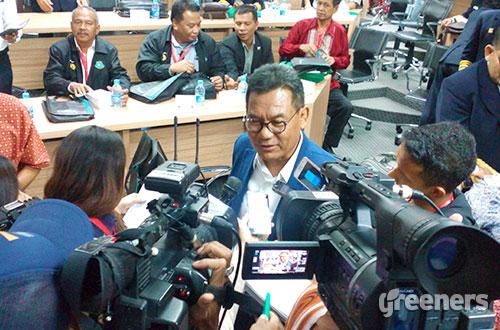 Direktur Utama PT Pelindo IV, Mulyono. Foto: greeners.co/Danny Kosasih