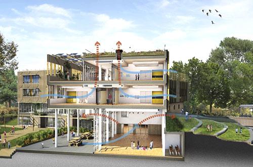 Ashmount Primary School. Gambar: inhabitat.com