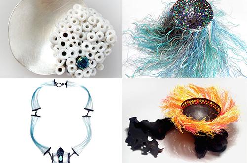 """Karya Sophie Carnell. Carnell mengolah sampah plastik yang berserak di pantai menjadi perhiasan yang indah. Hasil karyanya ini merupakan bagian dari proyek """"Vanishing Point."""" Foto: www.ecouterre.com"""
