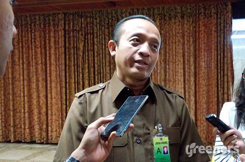 Sekretaris Jenderal Kementerian Lingkungan Hidup dan Kehutanan (KLHK), Bambang Hendroyono. Foto: greeners.co/Danny Kosasih