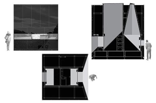 Instalasi dampak ketergantungan bahan bakar 5CUBE buatan De Siun Scullion Architects. Foto: inhabitat.com