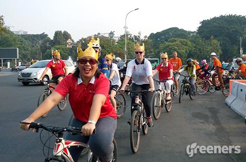 Gerakan Viking Biking mengajak masyarakat untuk kembali bersepeda. Foto: greeners.co/Danny Kosasih