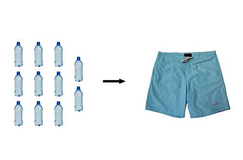 Fair Harbor Clothing Line membuat board short dari 11 botol plastik dengan serat polyester daur ulang. Foto: www.fairharborclothing.com