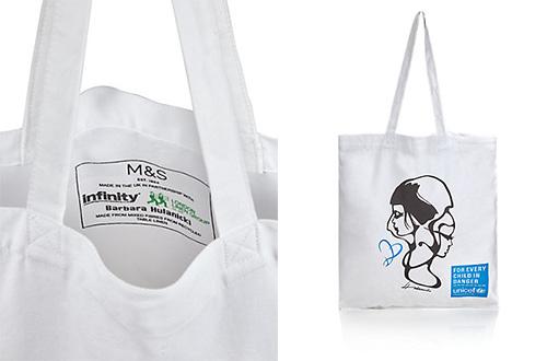 Peluncuran eco tote bag dari M&S ditujukan untuk membantu memperjuangkan keselamatan anak-anak. Foto: www.marksandspencer.com
