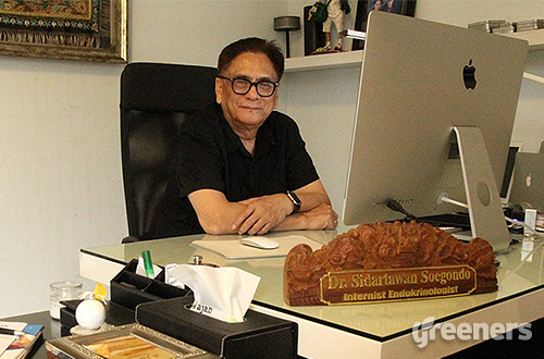 Guru Besar Ilmu Penyakit Dalam bidang Endokrinologi Fakultas Kedoktersan Universitas Indonesia, Prof. Dr. Sidartawan Soegondo. Foto: greeners.co/TW