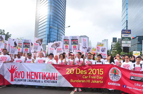 Aksi Jalan Santai Bersama Menteri Lingkungan Hidup & Kehutanan. Foto : Bachran Mile