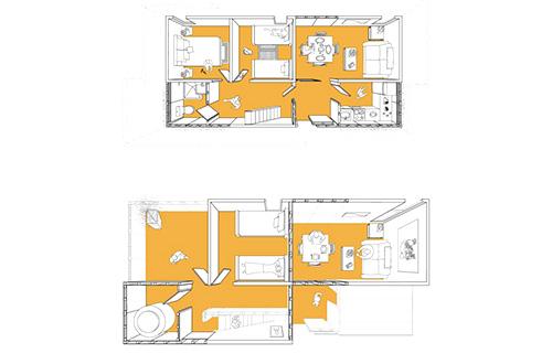 Tatiana Bilbao menawarkan desain rumah yang dapat menyesuaikan dengan kebutuhan ruang bagi penghuninya. Foto: Arch Daily/inhabitat.com