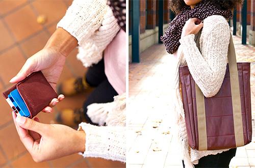 """Produk tas """"Carry On Collection"""" hasil kerjasama Alaska Airlines dan Looptworks. Foto: www.ecouterre.com"""