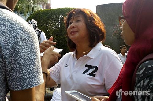 Kepala Dinas Pertamanan dan Pemakaman DKI Jakarta Ratna Diah Kurniati. Foto: greeners.co/Danny Kosasih