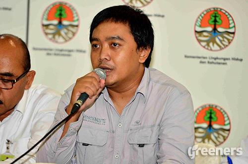 Koordinator Gerakan Jambore Sapu Gunung, Syaiful Rochman. Foto: Humas KLHK