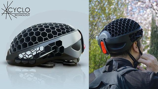 Cyclo, Helm Yang Dapat Dikemas Terbuat Dari Daur Ulang Sampah Plastik