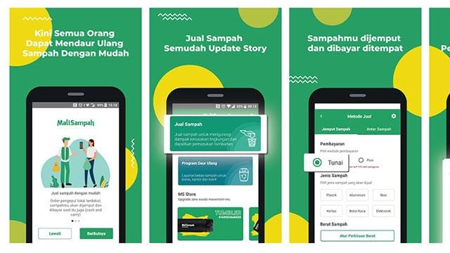 Mallsampah, Aplikasi Online Jual Beli Sampah Online