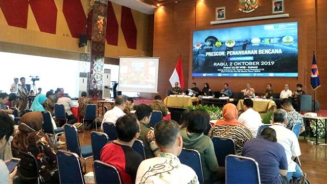 "Diskusi Media Forum Merdeka Barat (FMB) 9 dengan tema ""Penanganan Bencana"", di Graha Badan Nasional Penanggulangan Bencana (BNPB), Jakarta, Rabu (2/10/2019)."