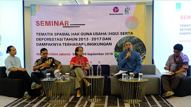 Konferensi pers potret Keadaan Hutan Indonesia & Deforestasi 2013-2017 Cikini, Jakarta