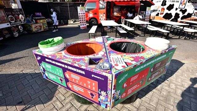Rangkaian Aksi Nyata Green Movement Synchronized Festival 2019 Wastebin