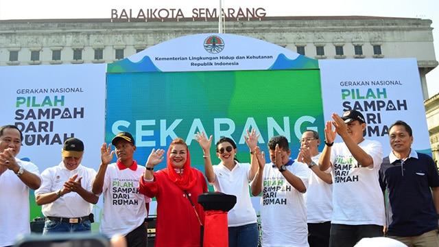 Warga Semarang Deklarasi Pilah Sampah dari Rumah