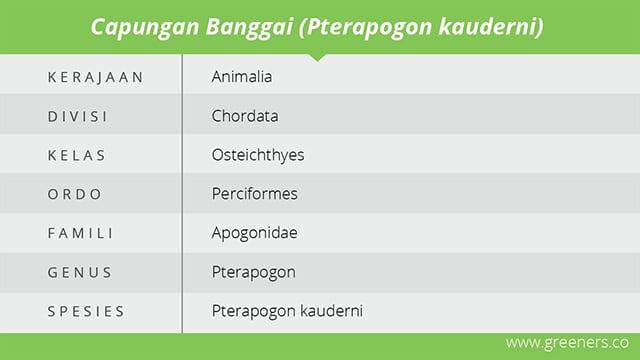 tabel klasifikasi ikan capungan banggai