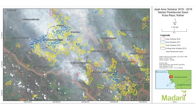 Jejak Area Terbakar 2016-2019