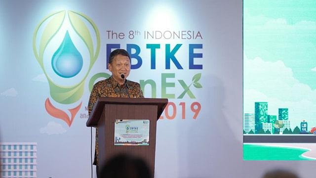 Menteri ESDM Arifin Tasrif Memberikan Sambutan Pada Pembukaan EBTKE CONEX 2019