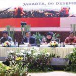 Kapolri Idham Azis, Panglima TNI Hadi Tjahjanto, Menkopolhukam Mahfud MD, Menteri LHK Siti Nurbaya, Mendagri Tito Karnavian, Kepala BNPB Doni Monardo.