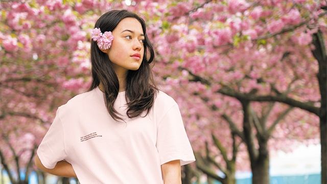 Sakura t-shirt pink