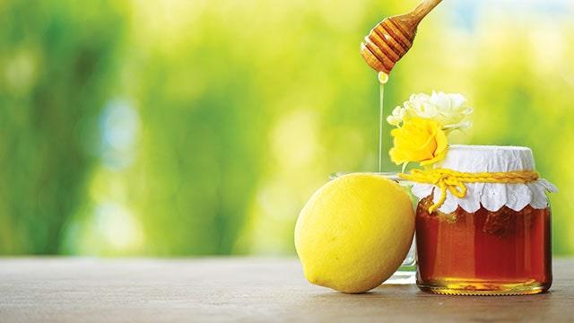 Sarapan buah lemon dan madu untuk pencernaan yang lebih baik.