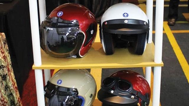 green composite helmet