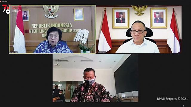 Menteri LHK dan Kepala BRIN